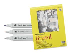 FREE! Spectrum Noir Illustrator Marker Set of 3  when you buy an 11 x 14 Strathmore 300 Series Bristol Board Pad.