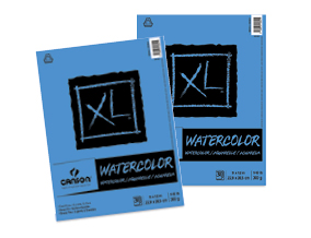 FREE! 9 x 12 Canson XL Watercolor Pad  when you buy one of the same size.