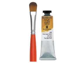 FREE! Size 10 Raphaël Kaërell Synthetic Filbert Long Handle Brush  when you buy any three, 200 ml tubes Sennelier Rive Gauche Oil Colors.