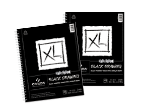 FREE! 9 x 12 Canson XL Black Drawing Pad  when you buy one of the same size.