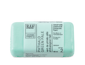 FREE! 40 ml Phthalo Green Pale when you buy $40 worth of R&F Encaustic Paints.