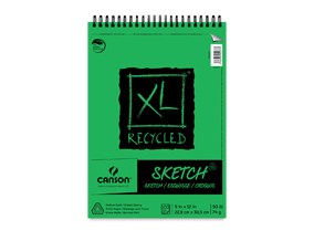 "Buy one 9"" x 12"" Canson XL Recycled Sketch. Get one of the same size and type free."