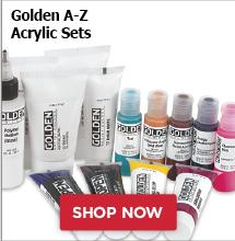 Golden A-Z Acrylic Sets