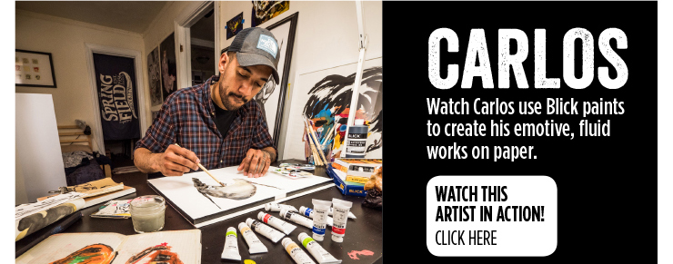 Carlos - Watch Carlos use Blick paints to create his emotive, fluid works on paper.