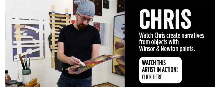 Chris - Watch Chris create narratives from objects with Winsor & Newton paints.