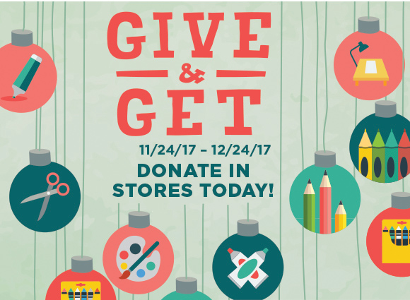 Give & Get - 11/24-12/24/17 - Donate In Stores Today!