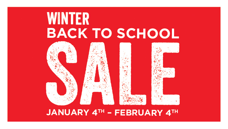 Winter Back to School SALE - January 4th - February 4th