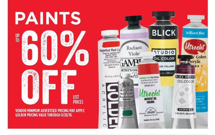 Paints - Up to 60% off list prices