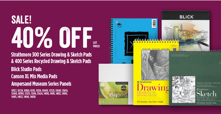 Sale Strathmore Sketch Pads Blick Studio Pads 40%