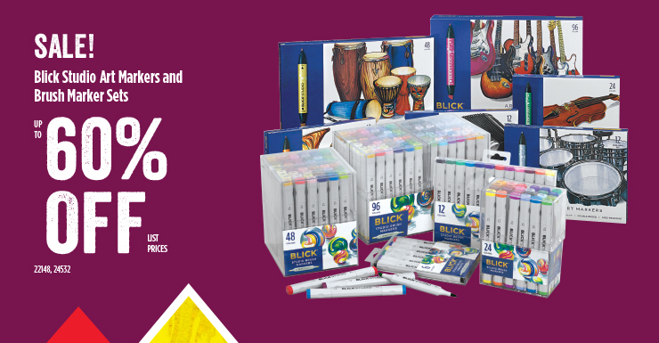 Sale Blick Studio Art Markers and Brush Marker Sets 60%