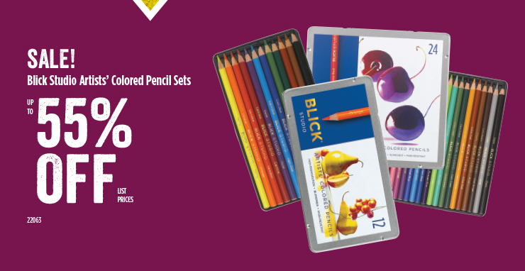 Blick Studio Artists Color Pencil Sets 55%