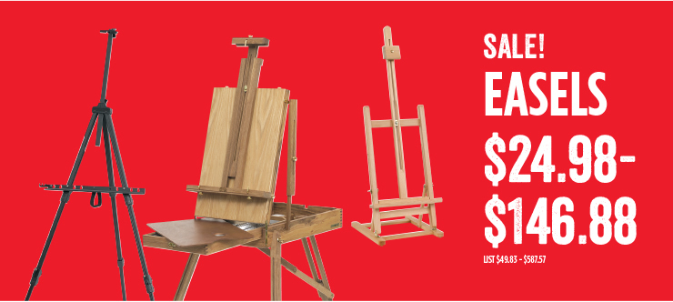 Sale Easels $24.98 - $146.88