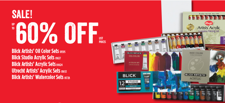 Sale up to 60% off Blick Artists Paint Sets