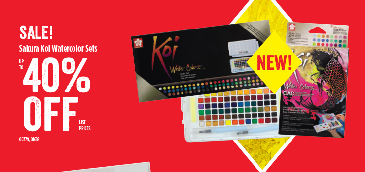 Sale Sakura Koi Watercolor Sets 40% off