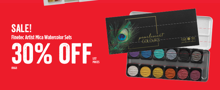 Sale Finetec Artist Mica Watercolors Sets 30%