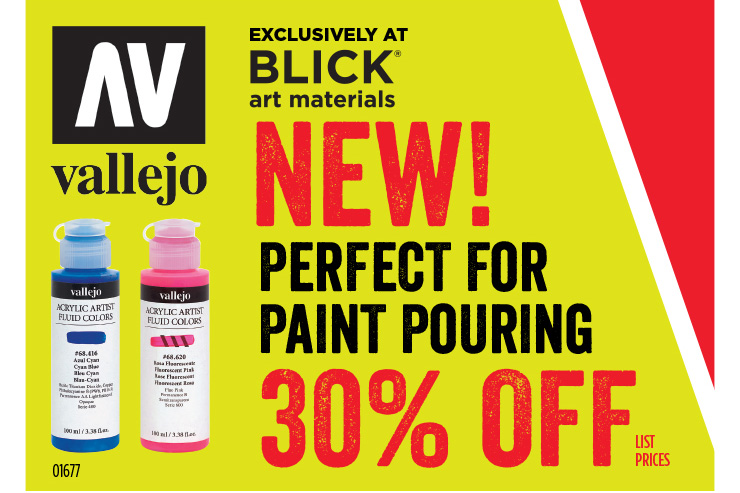 NEW! Vallejo Acrylic Artist Fluid Colors - Perfect for Paint Pouring - Exclusively at Blick Art Materials