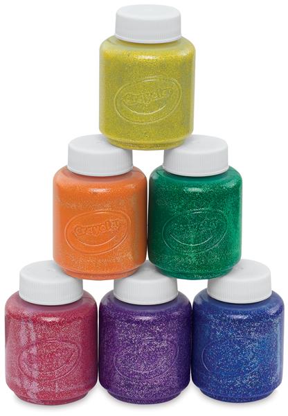 Set of 6 Glitter Colors