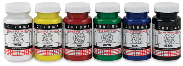 Chroma Opaque Poster Colors, Set of 6