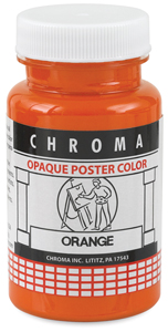 Chroma Opaque Poster Color, Orange