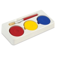Tray with 3 Colors and Brush
