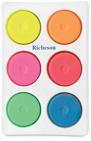 Tray with 6 Fluorescent Colors