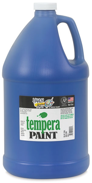 Handy Art Tempera, Blue, Gallon