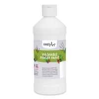 Handy Art Washable Finger Paint, White, 16 oz Bottle