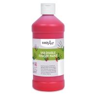 Handy Art Washable Finger Paint, Red, 16 oz Bottle