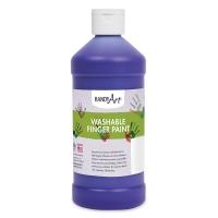 Handy Art Washable Finger Paint, Violet, 16 oz Bottle