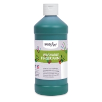 Handy Art Washable Finger Paint, Green, 16 oz Bottle