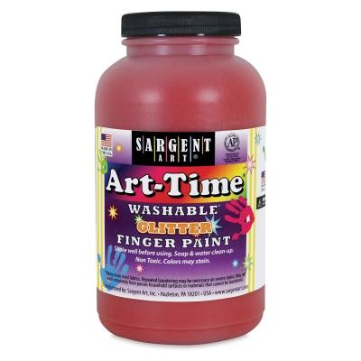 Sargent Washable Glitter Finger Paint, Red