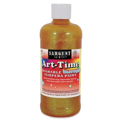 Washable Glitter Tempera, 16 oz bottle