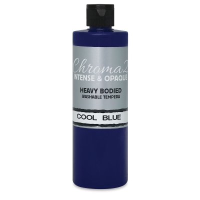 Chroma 2 Washable Tempera Paint, Cool Blue, 16 oz