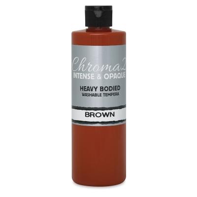 Chroma 2 Washable Tempera Paint, Brown, 16 oz