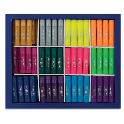Tempera Paint Stics, Class Pack of 144, Fluorescent and Metallic