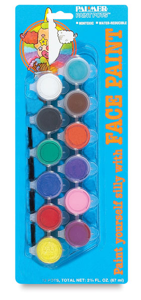 Face Paint Pots, Set of 12