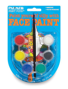 Face Paint Pots, Set of 6
