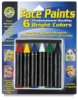 Bright Face Paint Crayons, Pkg of 6