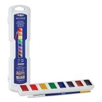 Prang Semi-Moist Watercolor Pans, 8-Color Set, Square