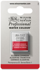 Professional Watercolor Half Pan, Alizarin Crimson