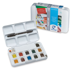 Van Gogh Watercolors Set - Assorted Colors, Set of 12, Pans