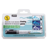 Pebeo Latex-Free Drawing Gum Marker, 4 mm Tip