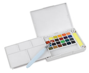 Sakura Koi Watercolor Sketch Box Travel Pan Sets - Set of 24 colors