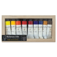 Richeson Shiva Oils, Set of 9 w/Cradled Panel