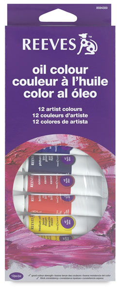 Intro to Art, Set of 12 Oil Tubes