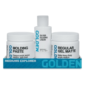 Golden Molding Paste Mediums