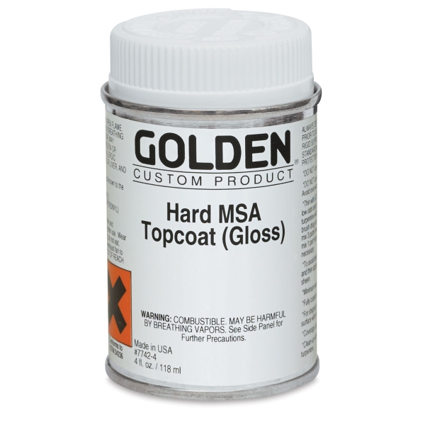 Hard MSA Topcoat, Gloss, 4 oz