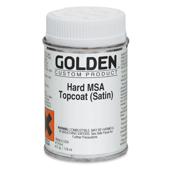 Hard MSA Topcoat, Satin, 4 oz