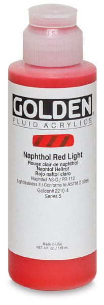 Naphthol Red Light, 4 oz Bottle