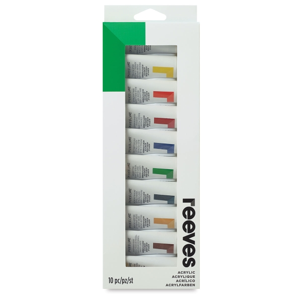Set of 10 Colors, 22 ml Tubes